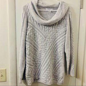 Motherhood Gray Cable Knit Sweater * Size XL